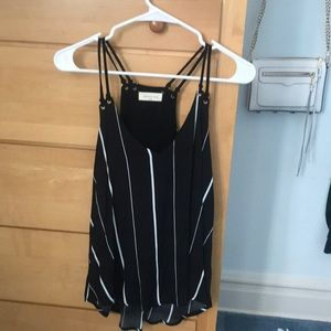 Nordstrom Black and White Summer Tank